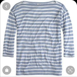 J Crew Drapey Sailor Tee Blue Stripe Small